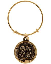 ALEX AND ANI - Four Leaf Clover Ii Expandable Wire Ring - Lyst