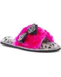 Pretty You London - Abby Faux Fur Mule - Lyst