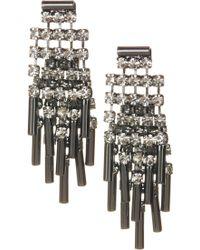 ABS By Allen Schwartz - Epoxy Stone Bar Earrings - Lyst