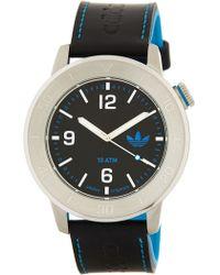 adidas Originals - Men's Manchester Leather Strap Watch - Lyst