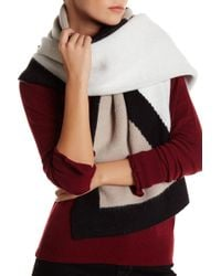 Anne Klein - Oversized Colorblock Scarf - Lyst