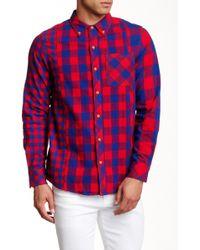 Altru - Woven Long Sleeve Regular Fit Shirt - Lyst