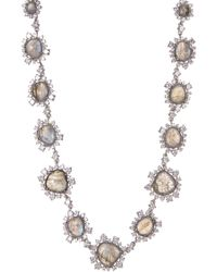 Nadri - Oasis Stone & Crystal Halo Set Bead Necklace - Lyst