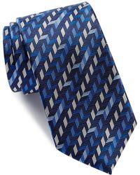 Bugatchi - Geo Pattern Silk Tie - Lyst