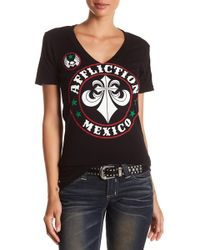 Affliction - Divio Mexico Short Sleeve Tee - Lyst