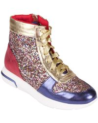 Wanted - Award Metallic High-top Trainer - Lyst