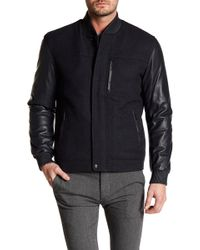 Bugatchi - Contrast Leather Jacket - Lyst