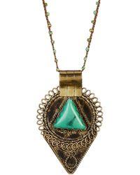 Native Gem - Aztec Hand Crochet Necklace - Lyst