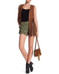 Lamarque - Anjanette Suede Leather Shorts - Lyst