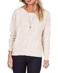 Volcom - Chained Down Knit Crewneck Jumper - Lyst
