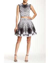 Wow Couture - 2-piece Monochrome Knit Tank & Skirt Set - Lyst