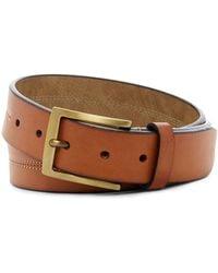 Steve Madden - Tri-center Stitched Leather Belt - Lyst
