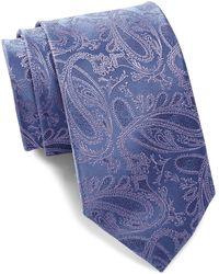 Bristol & Bull - Blue & Lavender Paisley Silk Tie - Lyst