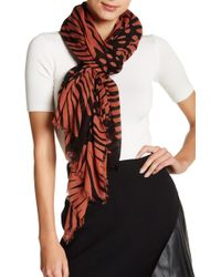 Blue Pacific - Oversized Gerber Daisy Cashmere Blend Scarf - Lyst