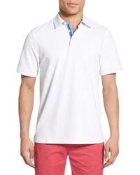 Bugatchi - Mercerized Cotton Polo - Lyst
