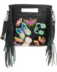 Raj - Leather Embroidered Butterfly Messenger - Lyst