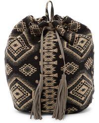 Raj - Carpet Genuine Suede Drawstring Backpack - Lyst