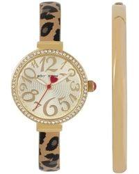 Betsey Johnson - Women's Cheetah Crystal Fashion Watch - Lyst