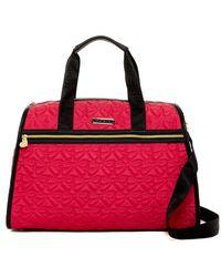 Betsey Johnson   Bow Quilt Nylon Weekend Bag   Lyst