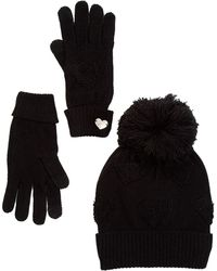 Betsey Johnson - Heart Glove & Hat Set - Lyst