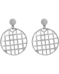 Botkier - Round Cage Drop Earrings - Lyst