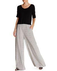 Bella Luxx - Wide Leg Silk Blend Pant - Lyst