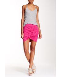 Bella Luxx - Shirred Cross Front Skirt - Lyst