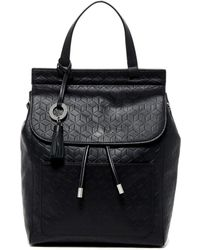 Badgley Mischka - Leather Cable Backpack - Lyst