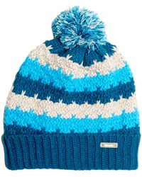Bench - Lyons Blue Knit Cuffed Ball Stocking Hat - Lyst