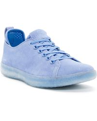 BLUPRINT - Los Angeles Suede Perforated Sock Lined Trainer - Lyst