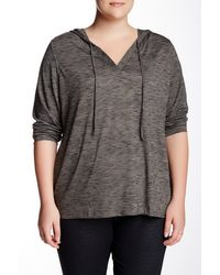 Balance Collection - Long Sleeve Marled Hoodie (plus Size) - Lyst