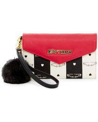 Betsey Johnson - Faux Leather Wallet Wristlet - Lyst