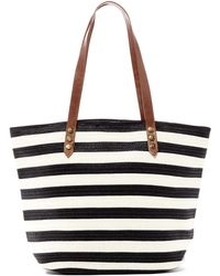 San Diego Hat Company | Colorblocked Woven Paper Tote | Lyst