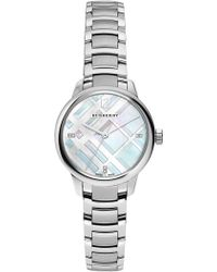 shop men s burberry watches from 246 lyst burberry women s diamond bracelet watch 0 022 ctw lyst