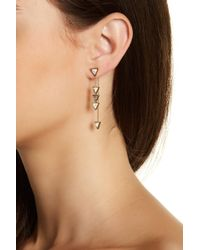 House of Harlow 1960 - Howlite Triangle Trellis Drop Earrings - Lyst