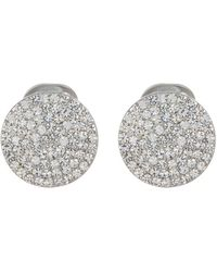 Karen Kane - Deep Shimmer Pave Circle Clip-on Earrings - Lyst