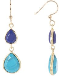 Karen Kane - Sky & Sea Double Teardrop Dangle Earrings - Lyst