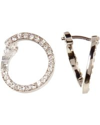 Vince Camuto - Curled Pave Crossover Earrings - Lyst