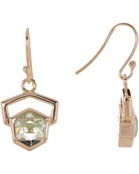 Cole Haan - 12k Gold Plated Frame Hexagon Drop Earrings - Lyst