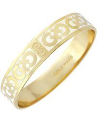 Cole Haan - 12k Gold Plated Logo Enamel Bangle - Lyst