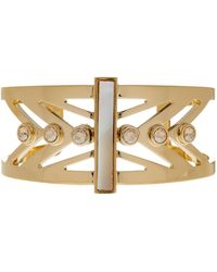 Cole Haan - Open Mother Of Pearl Cutout Cuff - Lyst