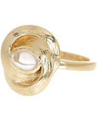 Cole Haan - 12k Gold Plated Linked Stone Ring - Size 7 - Lyst