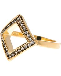 Cole Haan - Austrian Crystal Open Geo Ring - Size 7 - Lyst