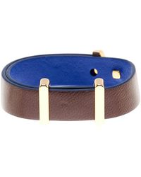 Cole Haan - Brown & Blue Leather Bracelet - Lyst