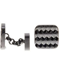 Cole Haan - Rounded Square Woven Cuff Links - Lyst