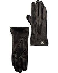 Cole Haan - Leather Center Point Gloves - Lyst