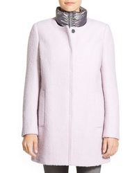 CALVIN KLEIN 205W39NYC - Boucl? Coat With Inset Quilted Bib - Lyst