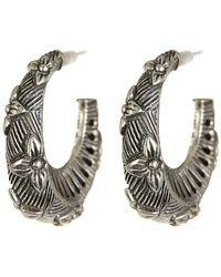 Stephen Dweck - Sterling Silver Flower Engraved Earrings - Lyst