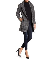 Closet - Marled Knit Single Button Coat - Lyst