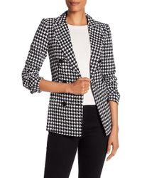 Closet - Houndstooth Double Breasted Jacket - Lyst
